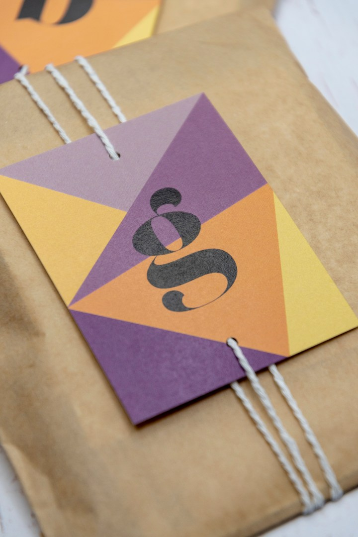 Free Printable Modern Letter Gift Tags