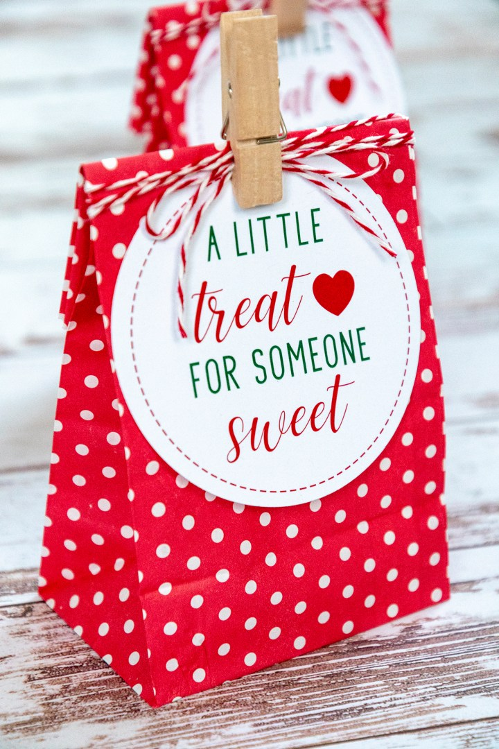 A Little Treat For Someone Sweet Holiday Gift Tags