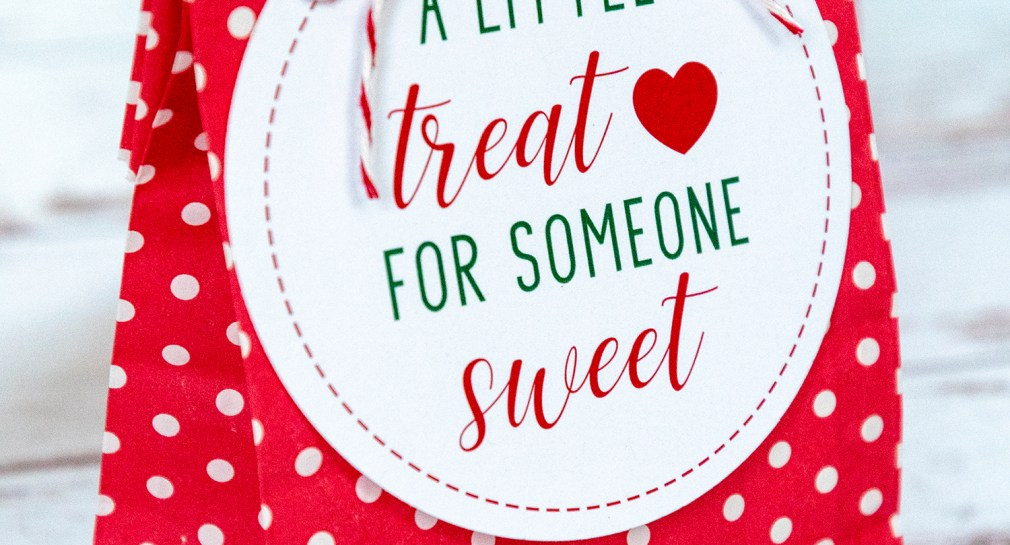 Free Printable A Little Treat for Someone Sweet Holiday Gift Tags