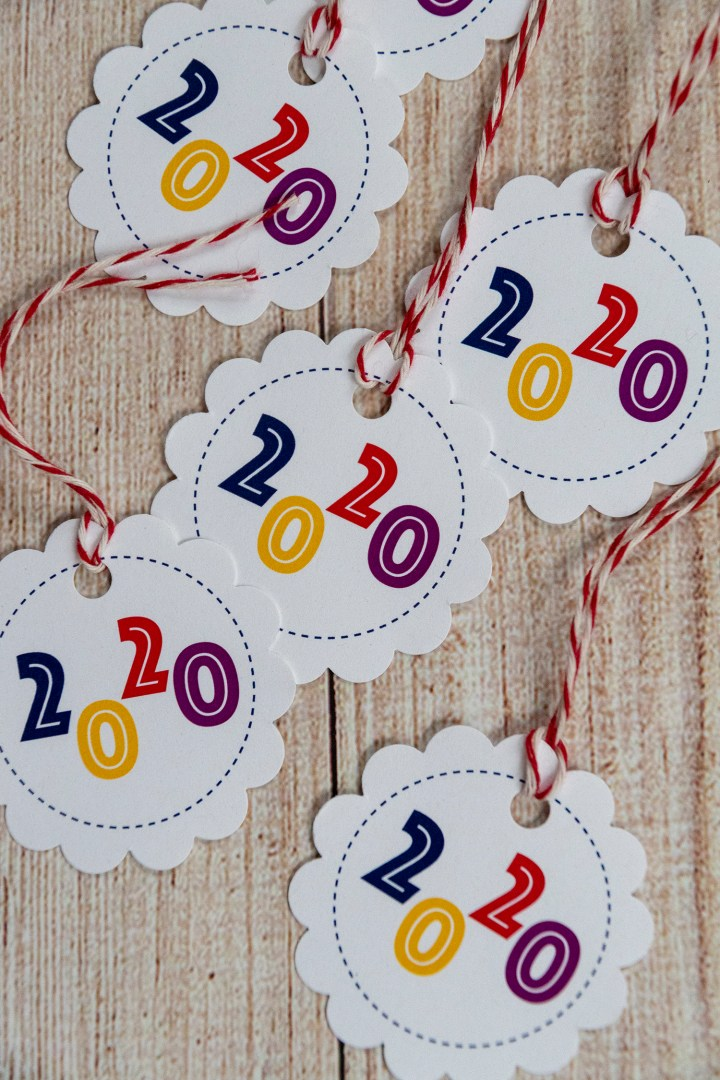 Free Printable New Year's Gift Tags To Ring in 2020