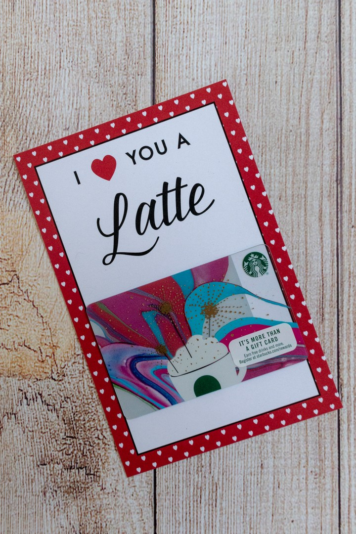 I Love You a Latte Free Printable Valentines