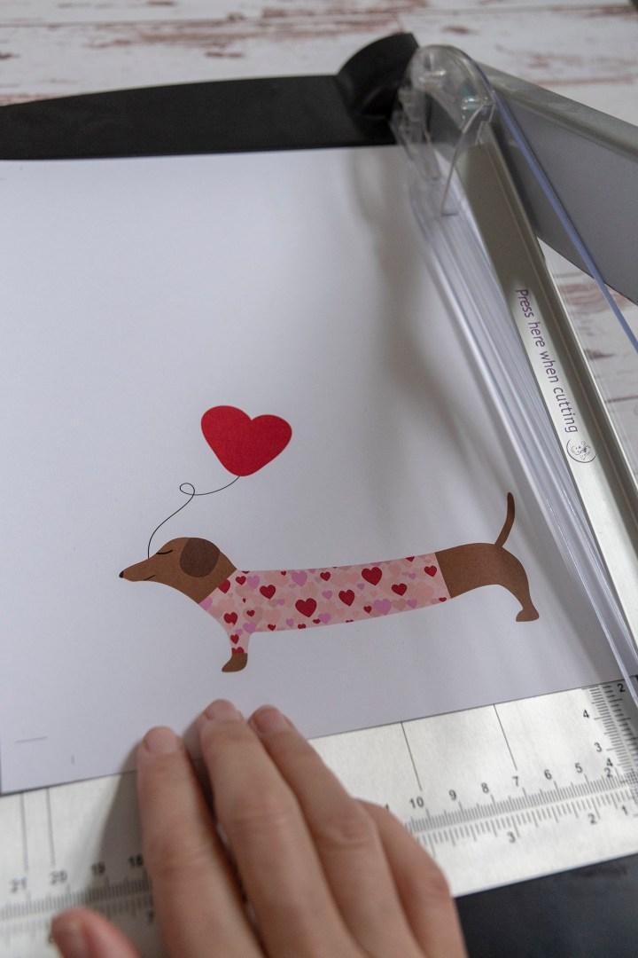Free Printable DIY Dachshund Valentine Card