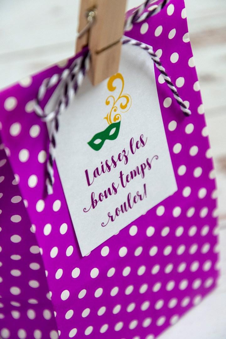 Free Printable Mardi Gras Gift Tags
