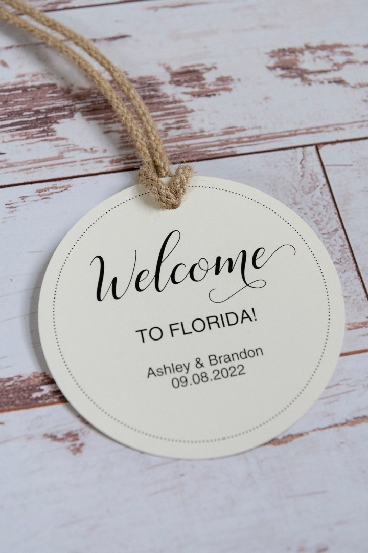 Free Printable Wedding Welcome Tag Download