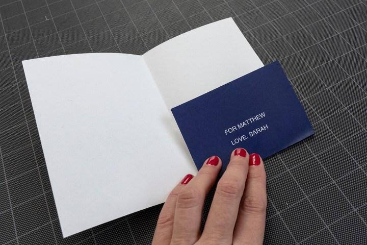 Make a birthday dollar holder card