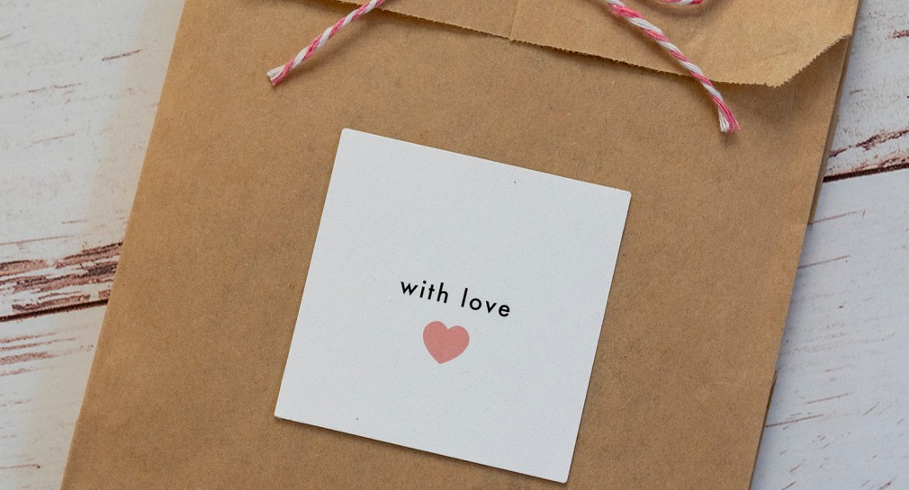 With Love Wedding Favor Gift Tags