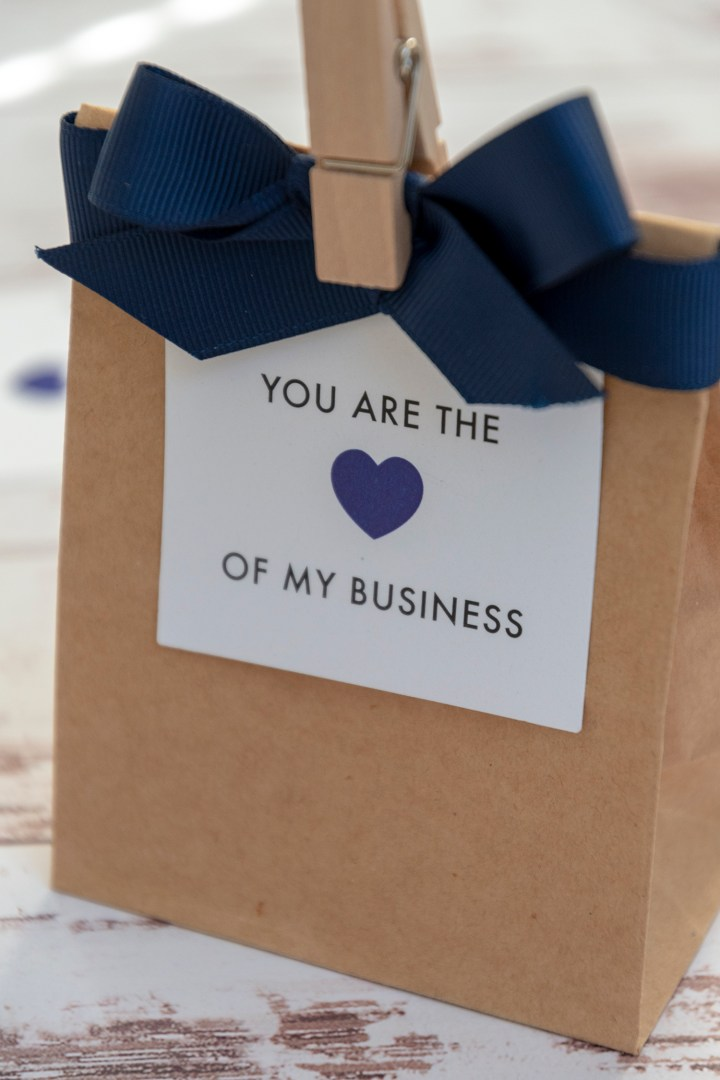 You Are the Heart of My Business Gift Tags