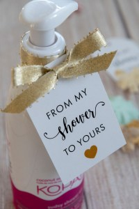 From My Shower to Yours Printable Gift Tag