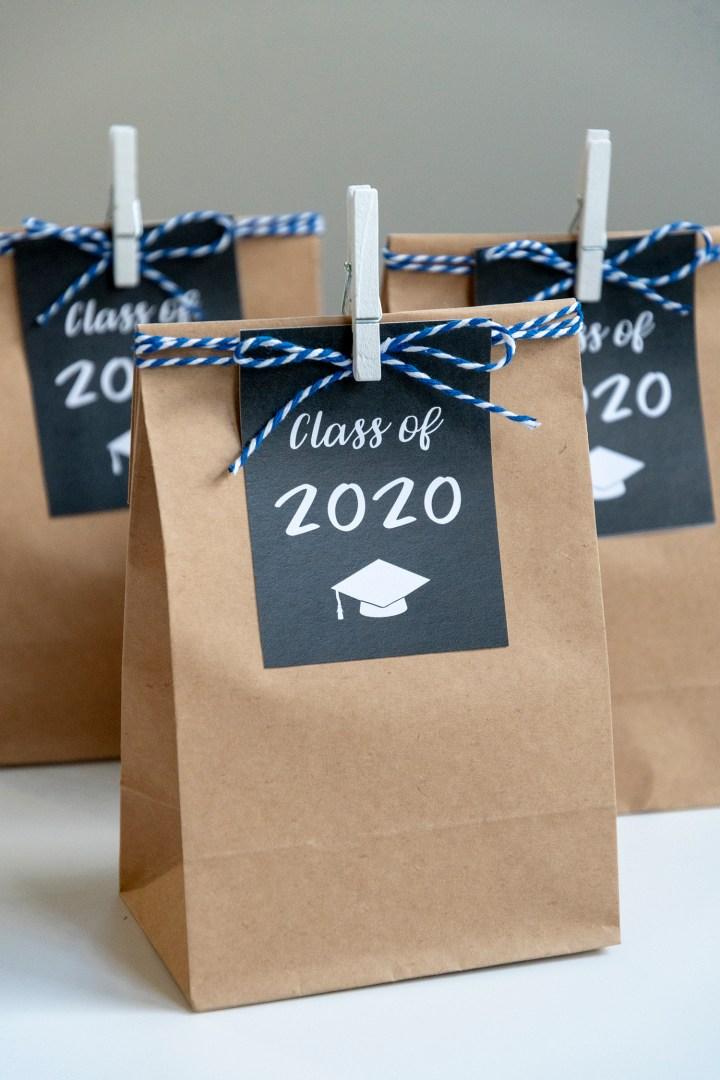 Class of 2020 Graduation Gift Tag Printable