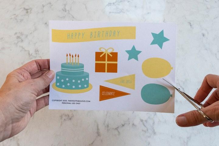Birthday Card Making Printables