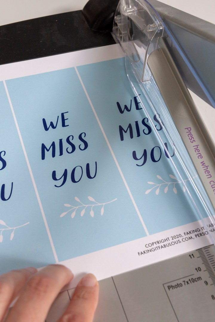 We Miss You Free Printable Gift Tags
