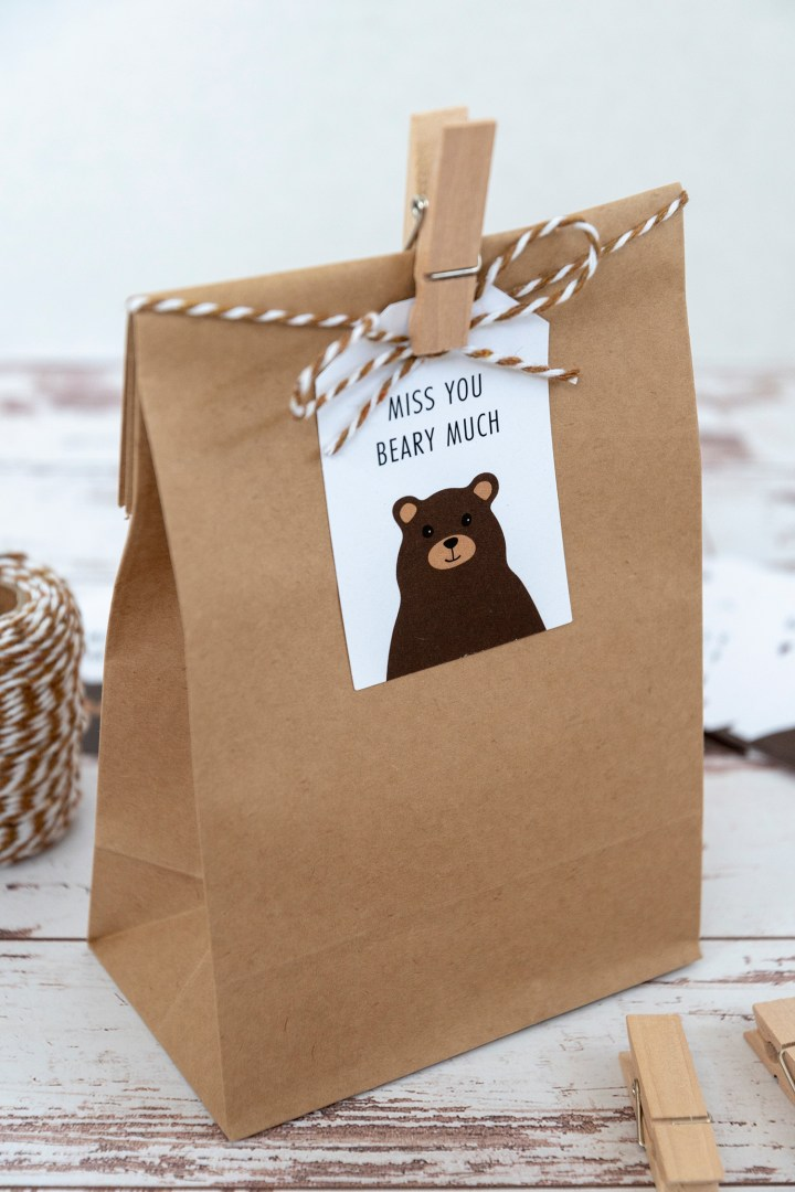 Miss You Beary Much Free Printable Gift Tags