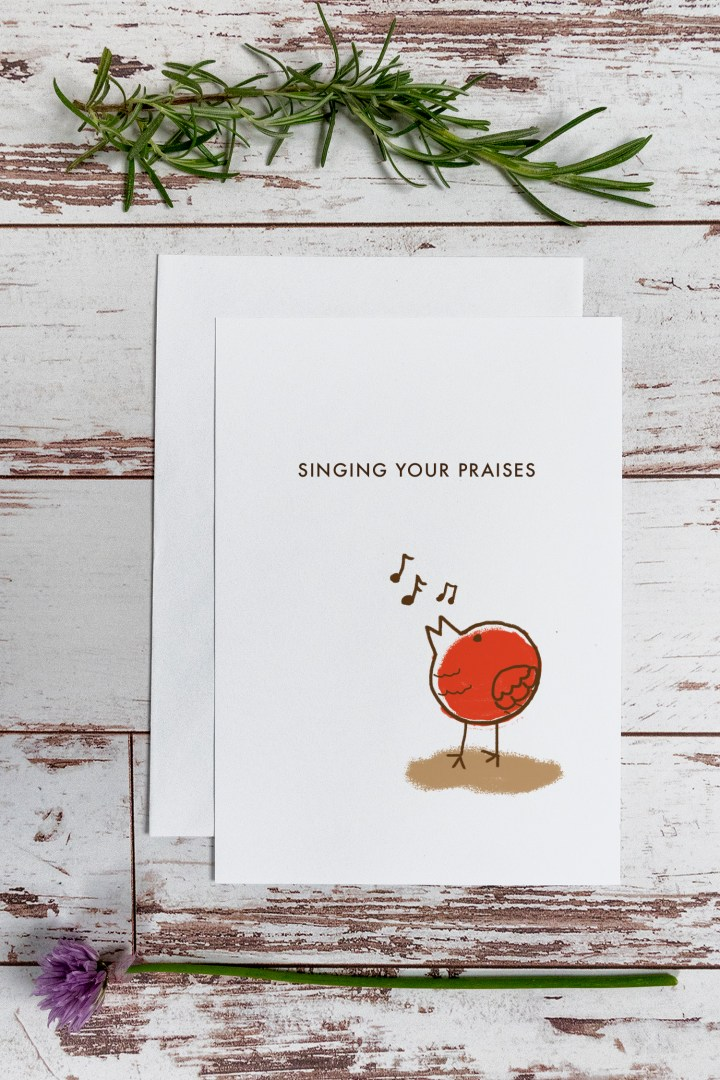 Messy Little Bird Free Printable Thank You Card
