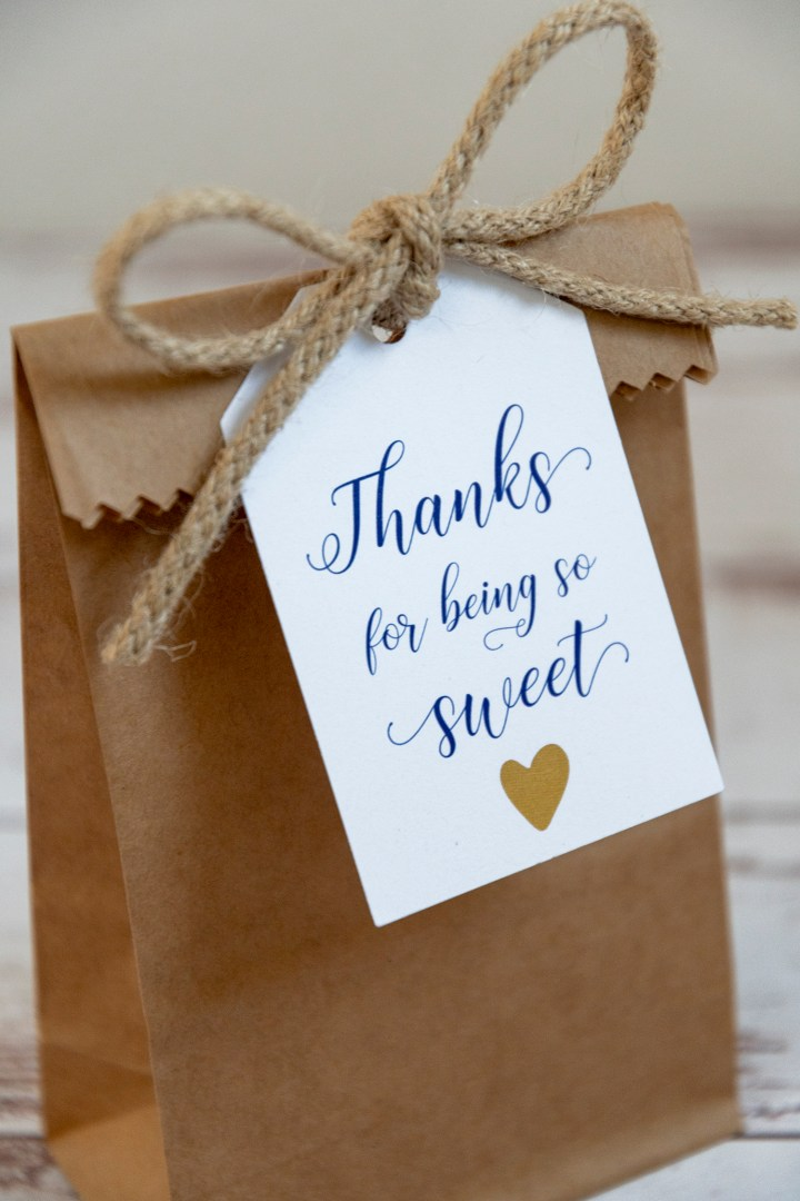 Thanks for Being So Sweet Free Printable Gift Tag