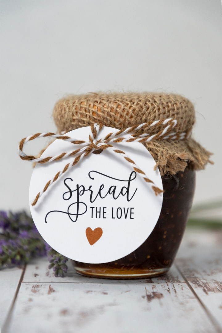 Spread the Love Printable Wedding Favor Tags