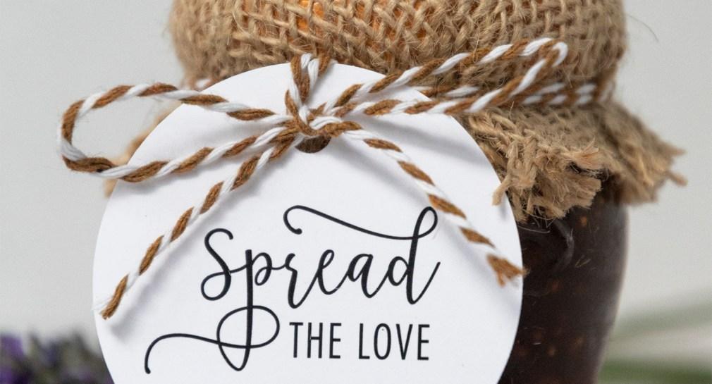 Spread the Love Wedding Favor Tag