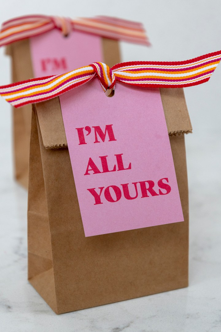 I'm All Yours Free Printable Gift Tags