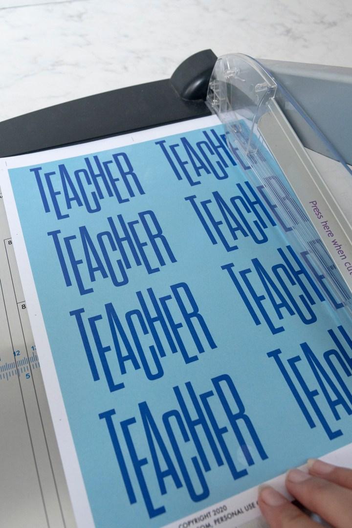 DIY Teacher Gift Tags