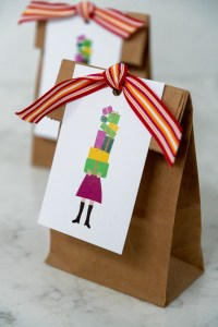 Tower of Presents Birthday Gift Tags