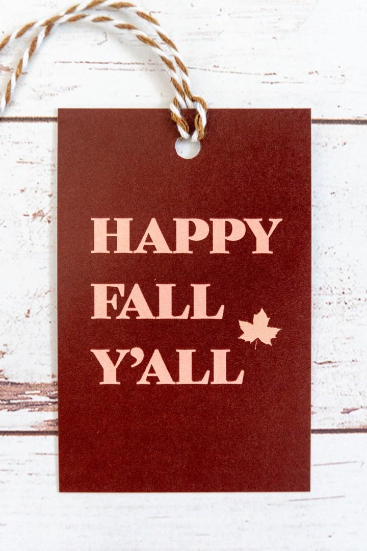 Fall Free Printable Gift Tags
