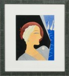 Original Art Deco Painting of Fashionable Woman