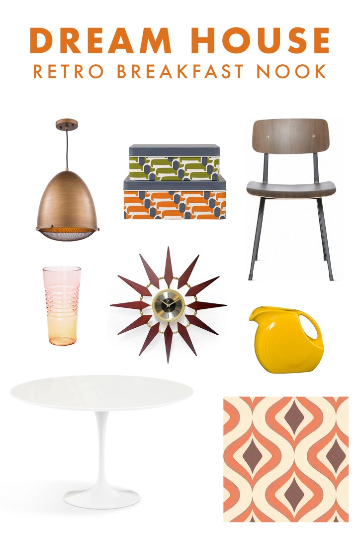 My Retro Breakfast Nook Design Idea Board