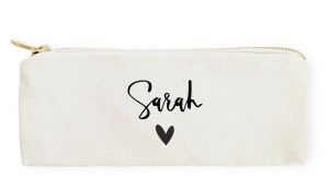 Minimalist personalized pencil case