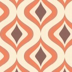 Retro Orange Wallpaper
