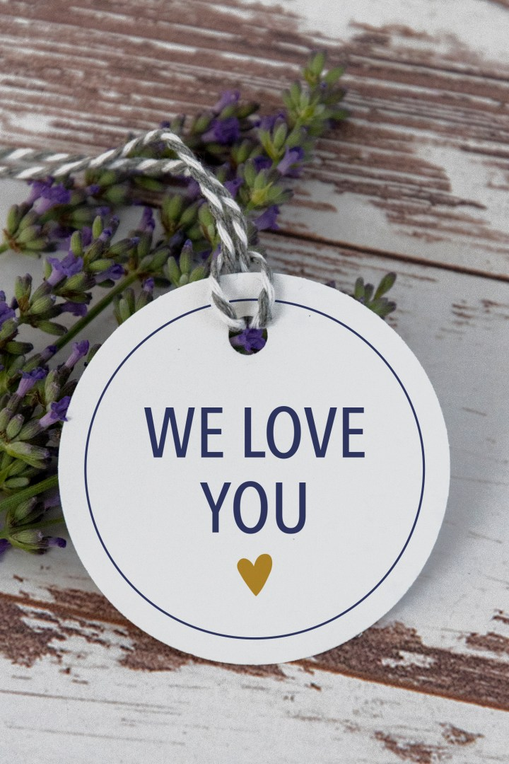 We Love You Free Printable Gift Tags