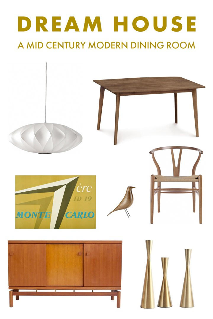 Mid Century Modern Dining Room Mood Board