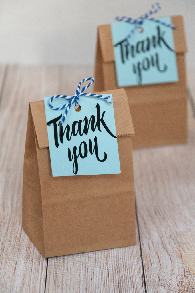 Blue Thank You Free Printable Tags
