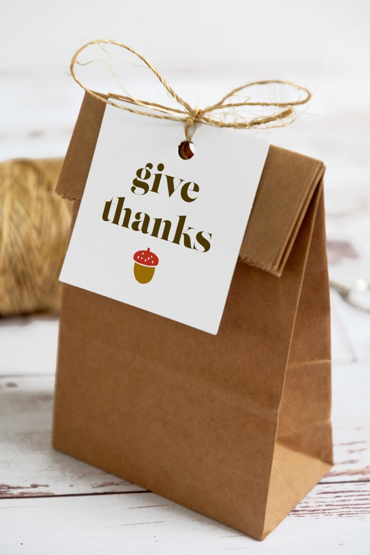 Give Thanks Free Printable Gift Tags