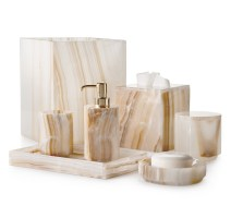 white onyx bath set