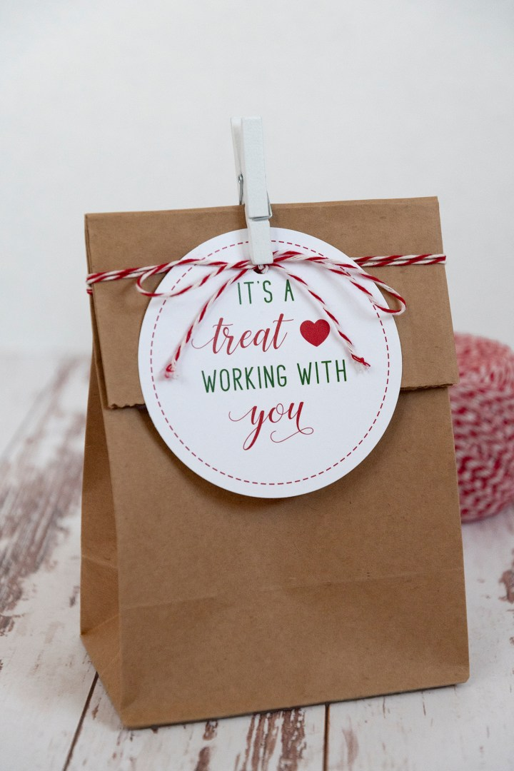 It's a Treat Working with You Holiday Gift Tags