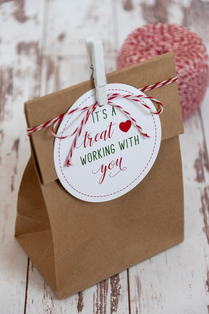 It's a Treat Working with You Gift Tags Free Printable