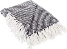 black and white throw