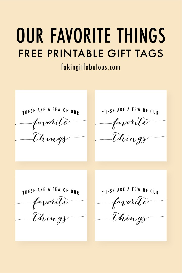 These Are a Few of Our Favorite Things Gift Tags