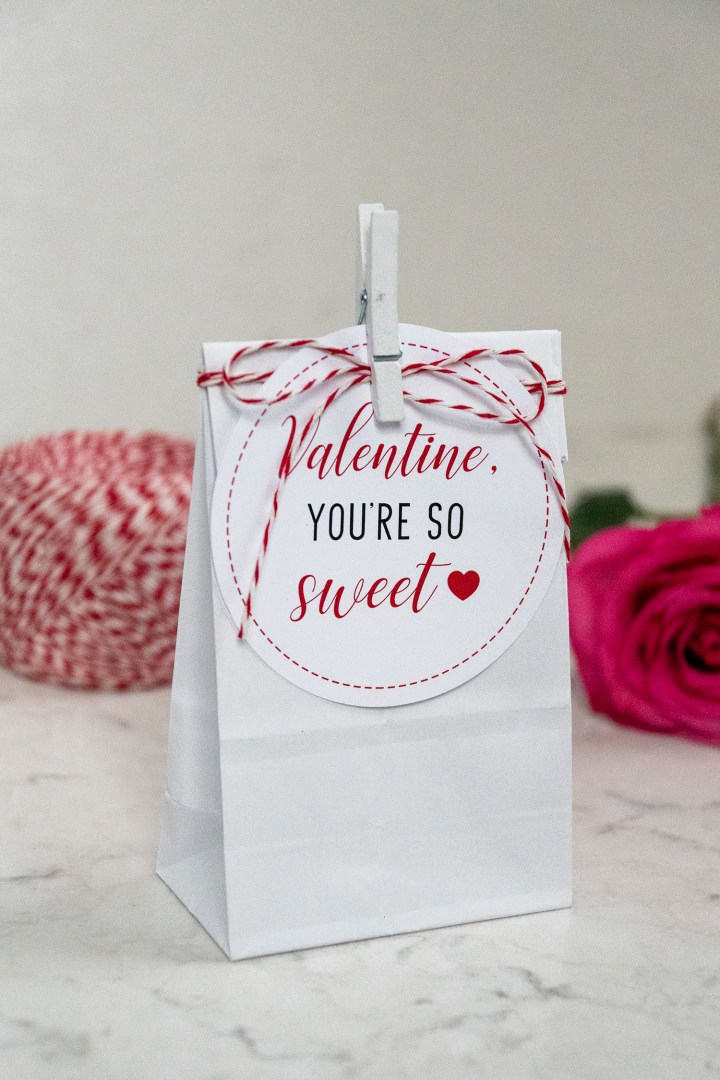 Valentine, You're So Sweet Free Printable Tags