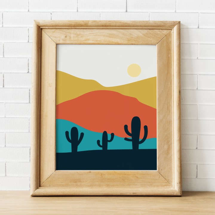 Desert Mountains Free Printable Art