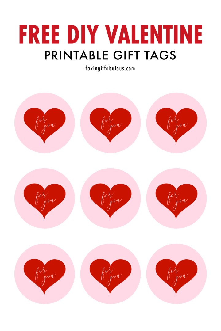 Free Printable Valentine Gift Tags For You