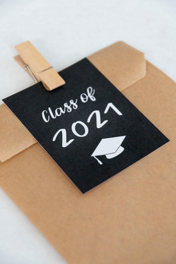 Free Printable Class of 2021 Graduation Gift Tags