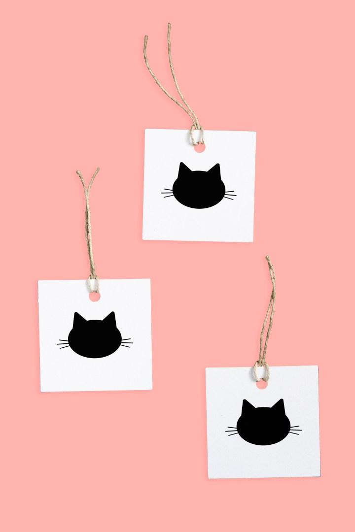 Free Printable Minimalist Cat Gift Tag