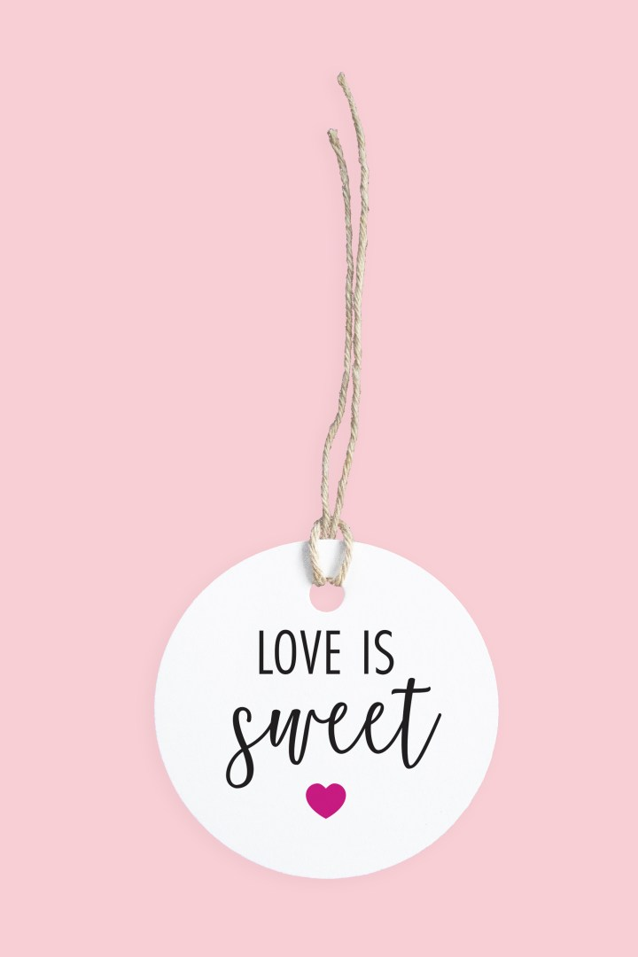 Fuchsia Love is Sweet Gift Tags | Free Printable