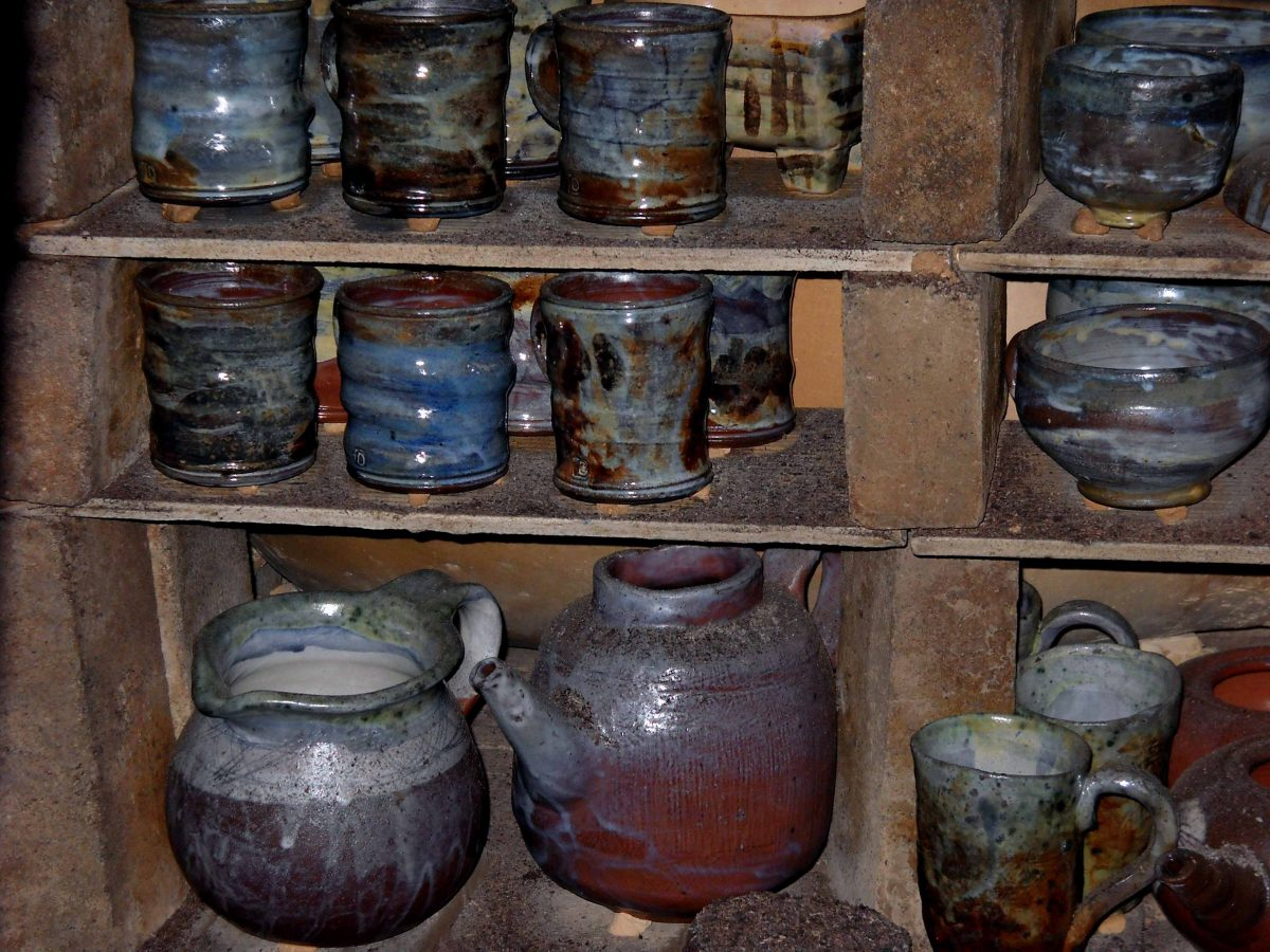 в пещта, Аnagama kiln, ателие, керамика, грънчарство,ceramics, pottery