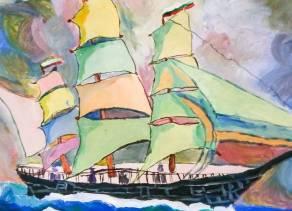 Урок по живопис за деца в Школата Арт Джунгла.