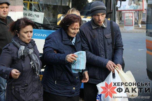 В Херсоне маршрутка попала в ДТП: есть пострадавшие