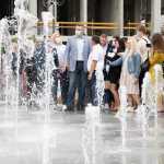 Михайло Хорошевський взяв учать у відкритті нового фонтану на Оболонський площі (ФОТО)
