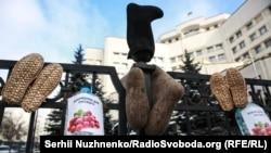 Фоторепортаж: Під КСУ вимагали скасувати «мовний закон Ківалова-Колесніченка»