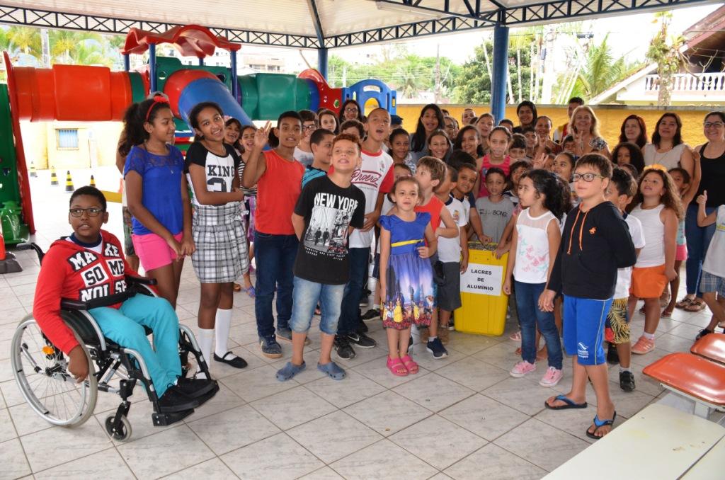 Campanha #NãoéMito recebe 18,9 quilos de lacres da Emei/Emef da Tabatinga