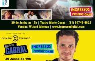 Domingo tem Dois super shows em Caraguatatuba teatro Mario Covas